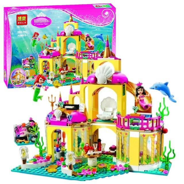 """Конструктор Bela 10436 (аналог Lego Disney Princess 41063) """"Подводный дворец Ариэль"""", 383 детали"""