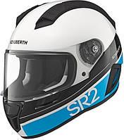 Мотошлем Schuberth SR2 Formula белый черный голубой 56/57 (M)