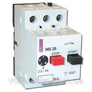 Автоматические выключатели защиты двигателей MS25-0,25 (0,16-0,25A)