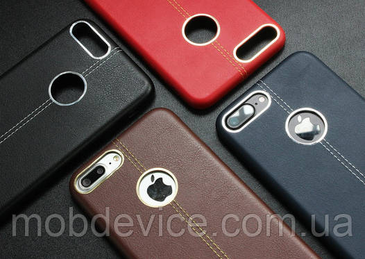 iPhone 7 Plus, 8 Plus эко кожа со строчкой
