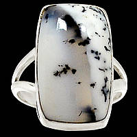 """Ювелирное серебряное кольцо с дендроопалом """"Сливки"""", размер 17.6 от студии LadyStyle.Biz, фото 1"""