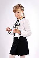 Детские девичьи школьные шорты-юбка с запахом