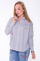 Женская рубашка в полоску с вышивкой тренд 2017 года