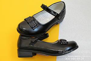 Туфли на девочку с бантом в белый горох тм Tom.m р.29,30,31,32