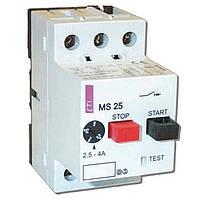 Автоматические выключатели защиты двигателей MS25-1,6 (1-1,6A)