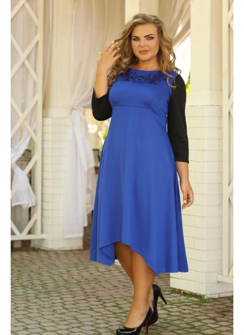 Женское классическое платье Василёк вышивка размер 48-72 / больших размеров