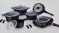 Набор посуды Royalty Line ES-1015 M из литого алюминия