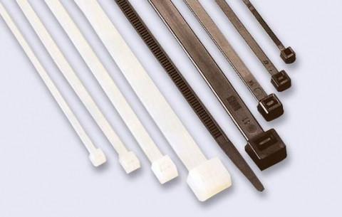Хомут пластиковый 3,6×300 мм черный 100 шт CORT