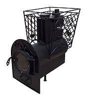 Отопительная печь Булерьян 12-20 м.куб. со стеклом (buller) без выносной топки