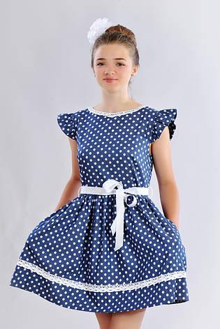 3764d9d38eb8617 Стильное подростковое повседневное летнее платье в горошек для девочки, ...