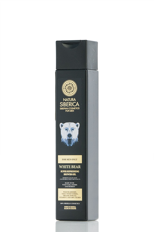 Natura Siberica MEN Гель для душа Бодрящий Белый Медведь 250 мл Код 21294