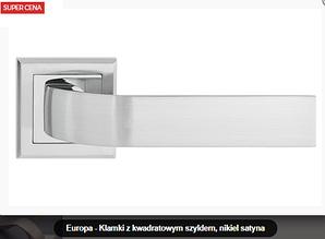 Дверная ручка Metal-bud Europa никель- сатин