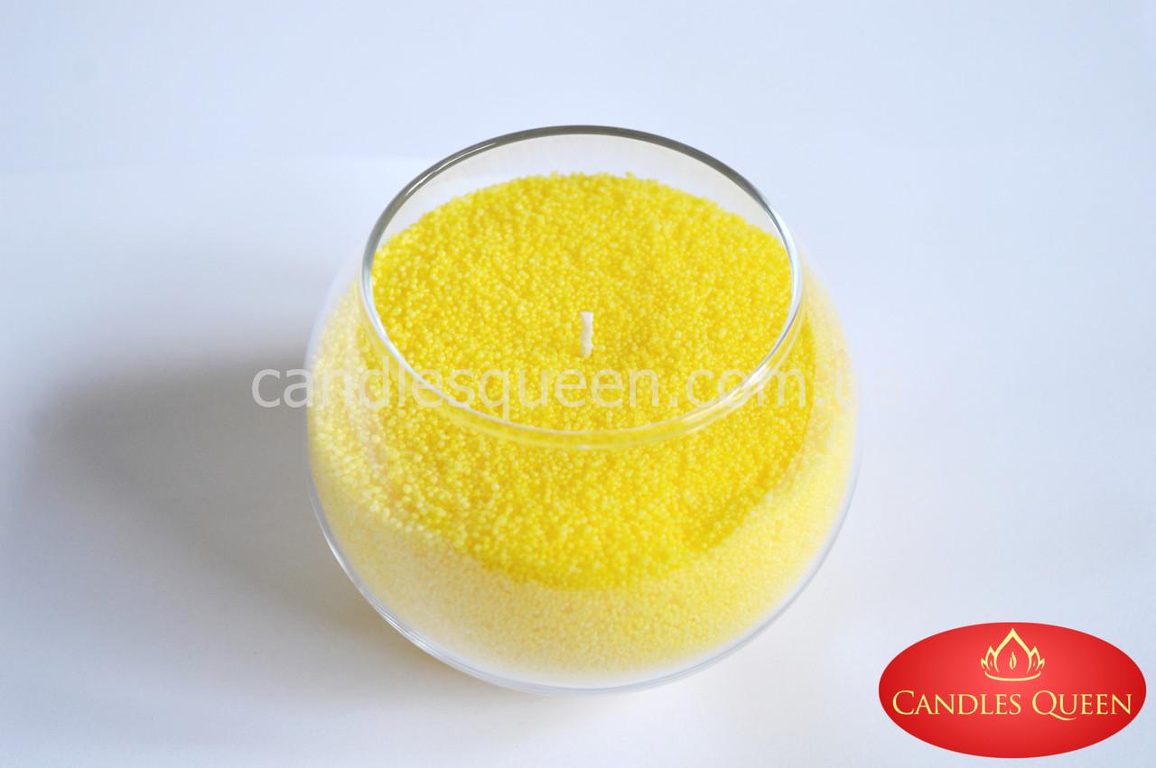 Стеарин для насыпных свечей и литых. Ярко-желтый цвет 1 кг