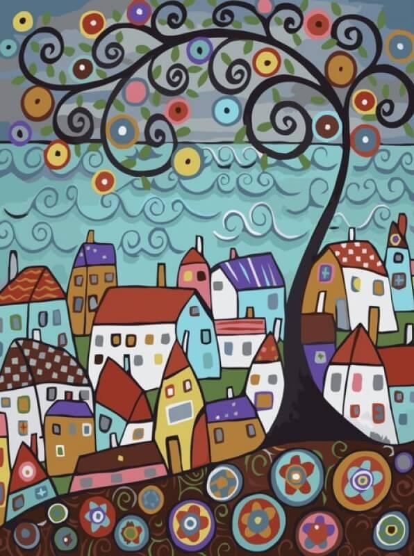 Картина по номерам Яркий город КНО2131 Идейка