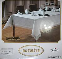Скатерть с кружевом на 8 персон Rozalite AYD