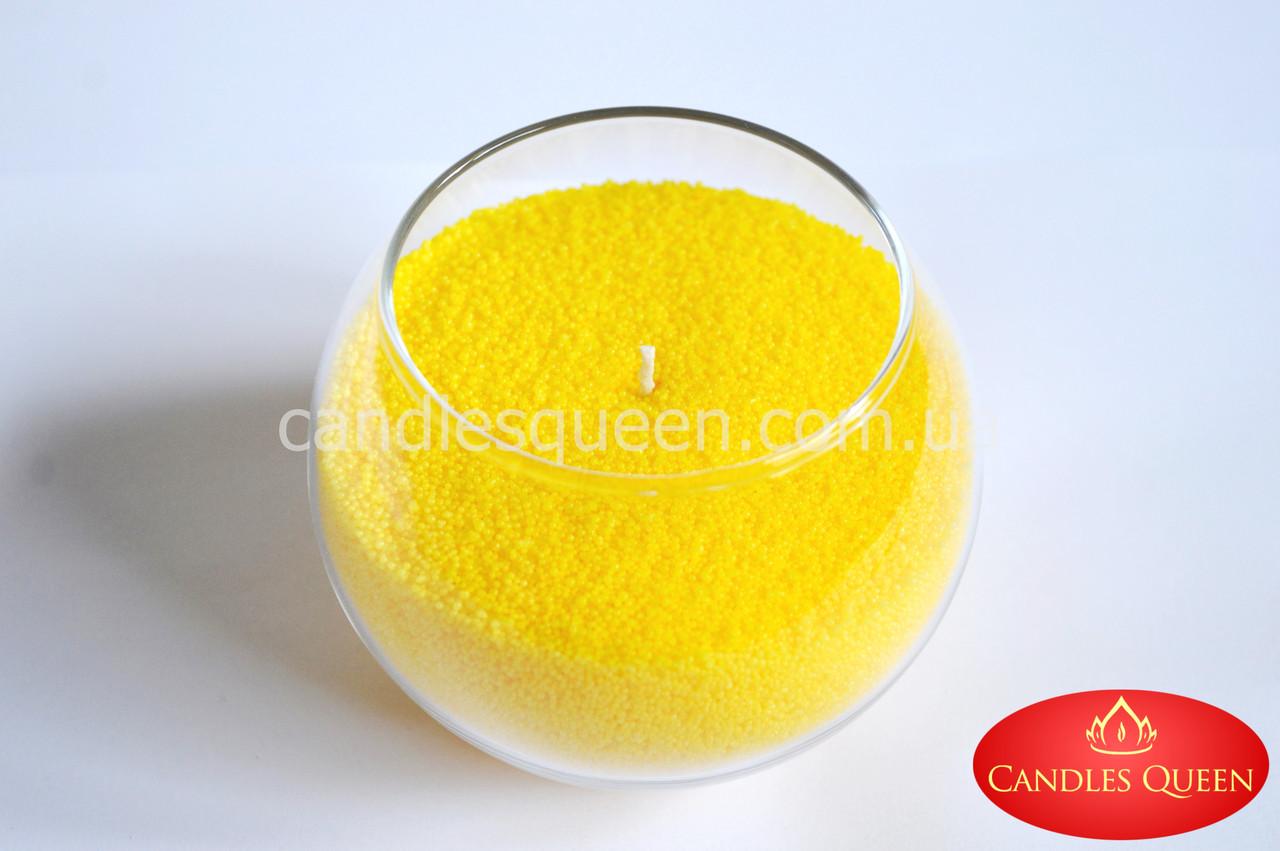 Стеарин в гранулах насыщенный желтый 1 кг. Для насыпных свечей и литых