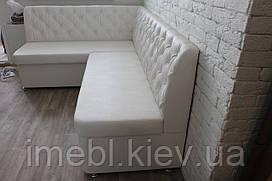 М'які меблі на кухню в исккуственной шкірі (Біла)