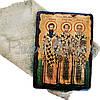 Деревянная икона Три святителя, 17х23 см (814-2081), фото 2