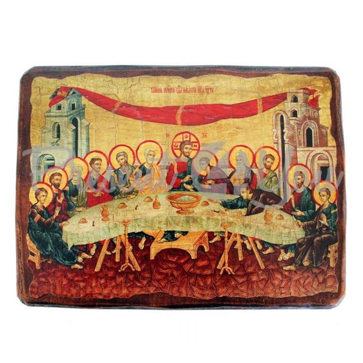 Деревянная икона Тайная вечеря, 17х23 см (814-2083)