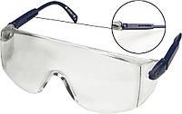 Очки защитные topex 82s110 белые регулируемые дужки