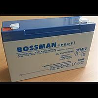 Свинцово-кислотний аккумулятор bossman 3fm12 6v 12.0ah/20hr