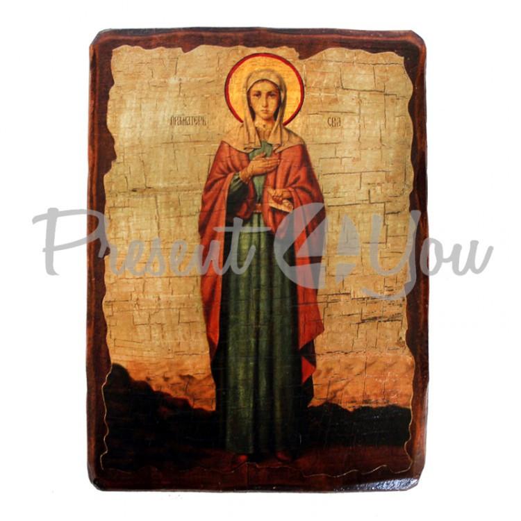 Деревянная икона святая Ева, 17х23 см (814-2072)