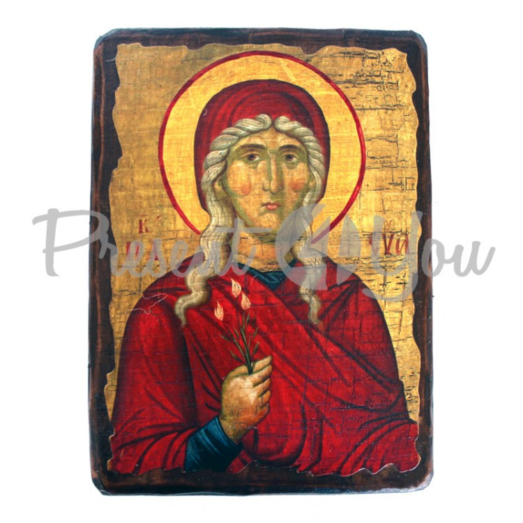 Деревянная икона святая Ева, 17х23 см (814-2073)