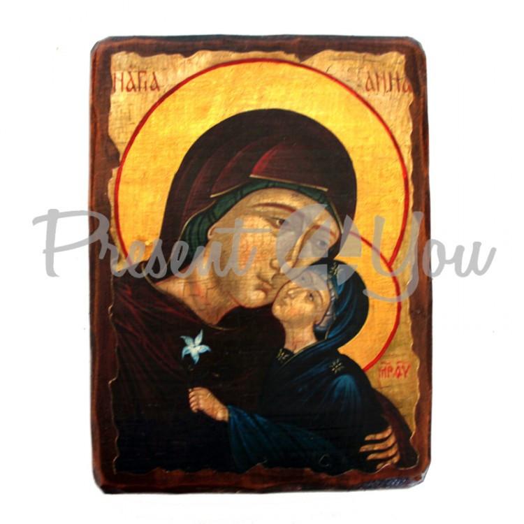 Деревянная икона святая Анна, 17х23 см (814-2059)
