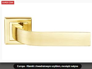 Дверная ручка Metal-bud Europa латунь матовая