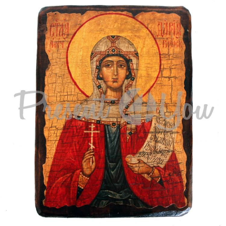 Деревянная икона святая Дария, 17х23 см (814-2058)