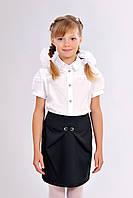 Детская девичья практичная школьная юбка-тюльпан