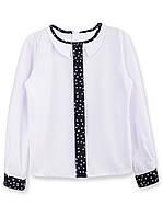 Школьная блузка с длинным рукавом, р.122-146