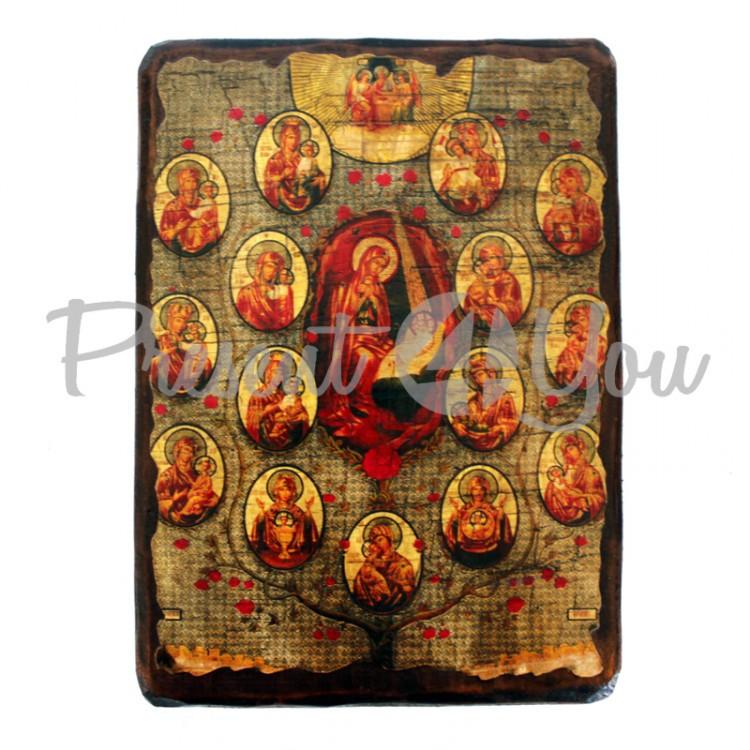 Деревянная икона, 17х23 см (814-2068)