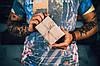 Обложка на паспорт из натуральной кожи |10508| Фиолетовый, фото 4