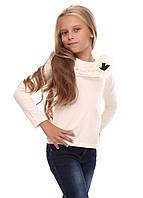 Кофта школьная для девочки (молочная)