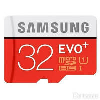 Карта памяти Samsung 32 GB microSDHC Class 10 UHS-I EVO Plus + SD Adapter MB-MC32DA