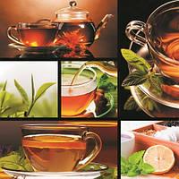 Картины на стекле коллаж Чай с лимоном 50*50 см