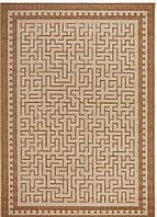 Безворсовый ковер-рогожка плетение лабиринт