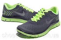 Женские кроссовки  Nike Free 4.0 серые, фото 1
