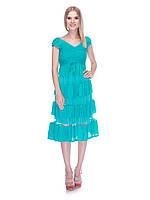 Платье из хлопка Мария 9514-6008 42-46р лагуна
