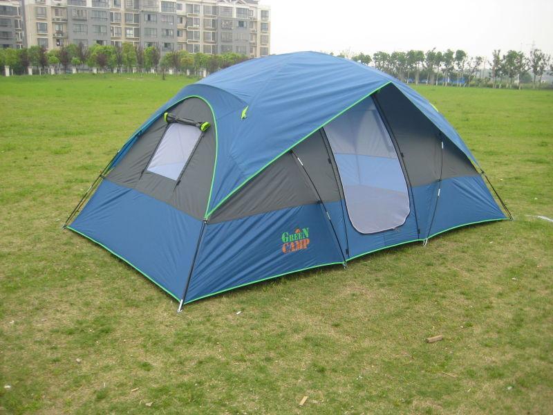 Палатка большая походная четырехместная GreenCamp 1100 размер 3,8х2,1х1,7 м
