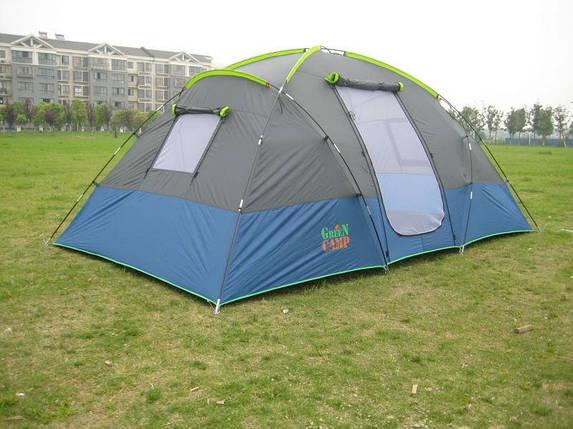 Палатка большая походная четырехместная GreenCamp 1100 размер 3,8х2,1х1,7 м, фото 2
