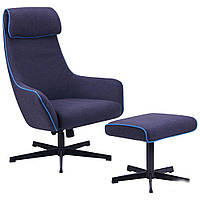 Кресло-реклайнер Lucca тк.темно-синий