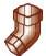 Колено водосточной системы Хантер (Hunter) Регент 74 мм коричневый