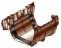 Соединитель желоба водосточной системы Хантер (Hunter) Регент 125 мм коричневый
