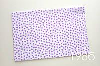 Ткань Мелкие фиолетовые сердца (198б)
