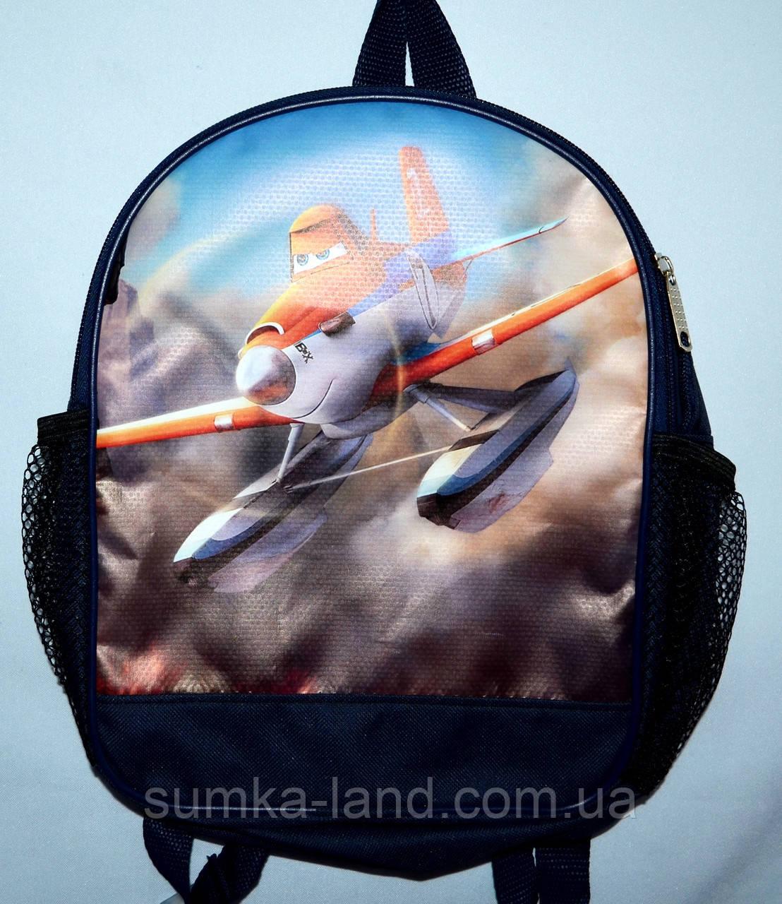 Детский школьный рюкзак для мальчика 22*29 (самолет)