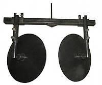 Окучник дисковый для МОТО/Бензо/- Культиваторов d.-360мм с рамой  700мм (вес 10кг.)