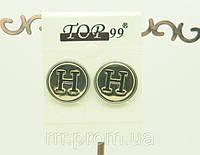 Cерьги Hermes (эмаль) брендовая бижутерия недорого 431