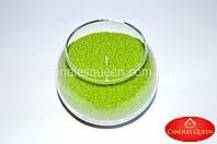 Свеча насыпная ярко-зеленая - цветной воск для насыпной свечи 1 кг